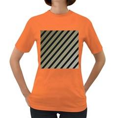 Decorative elegant lines Women s Dark T-Shirt