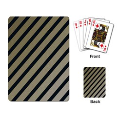 Decorative elegant lines Playing Card