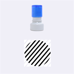 Decorative elegant lines Rubber Round Stamps (Small)