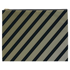 Decorative elegant lines Cosmetic Bag (XXXL)