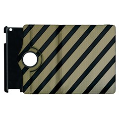 Decorative elegant lines Apple iPad 3/4 Flip 360 Case