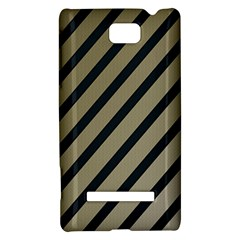 Decorative elegant lines HTC 8S Hardshell Case