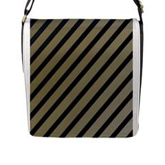 Decorative elegant lines Flap Messenger Bag (L)
