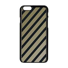 Decorative elegant lines Apple iPhone 6/6S Black Enamel Case