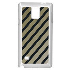 Decorative elegant lines Samsung Galaxy Note 4 Case (White)