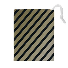 Decorative elegant lines Drawstring Pouches (Extra Large)