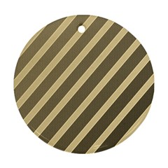 Golden elegant lines Ornament (Round)