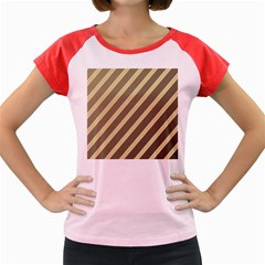 Golden elegant lines Women s Cap Sleeve T-Shirt