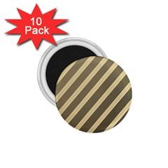 Golden elegant lines 1.75  Magnets (10 pack)