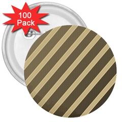 Golden elegant lines 3  Buttons (100 pack)