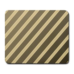 Golden elegant lines Large Mousepads