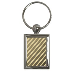 Golden elegant lines Key Chains (Rectangle)