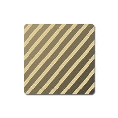 Golden elegant lines Square Magnet