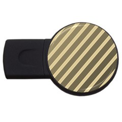 Golden elegant lines USB Flash Drive Round (1 GB)