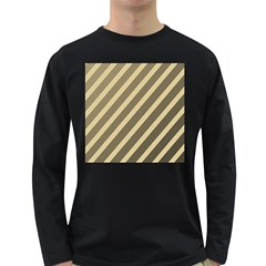 Golden elegant lines Long Sleeve Dark T-Shirts