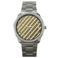 Golden elegant lines Sport Metal Watch