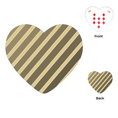 Golden elegant lines Playing Cards (Heart)