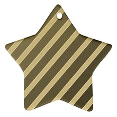 Golden elegant lines Star Ornament (Two Sides)