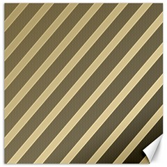 Golden elegant lines Canvas 16  x 16