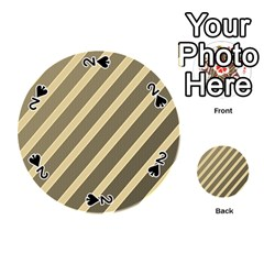 Golden elegant lines Playing Cards 54 (Round)