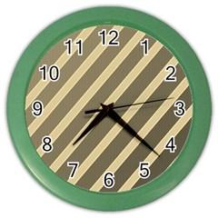 Golden elegant lines Color Wall Clocks