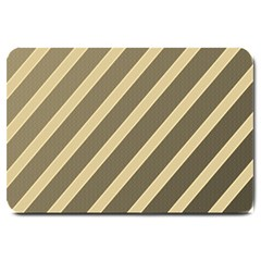 Golden elegant lines Large Doormat