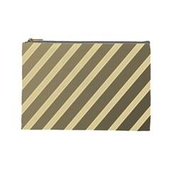 Golden elegant lines Cosmetic Bag (Large)