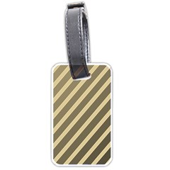 Golden elegant lines Luggage Tags (Two Sides)
