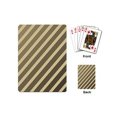 Golden elegant lines Playing Cards (Mini)