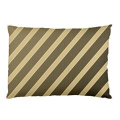 Golden elegant lines Pillow Case (Two Sides)