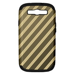 Golden elegant lines Samsung Galaxy S III Hardshell Case (PC+Silicone)