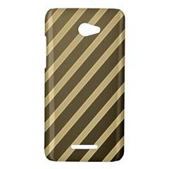 Golden elegant lines HTC Butterfly X920E Hardshell Case