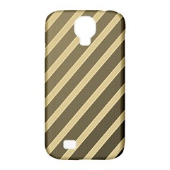 Golden elegant lines Samsung Galaxy S4 Classic Hardshell Case (PC+Silicone)
