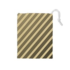 Golden elegant lines Drawstring Pouches (Medium)