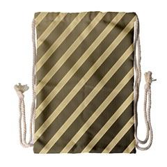 Golden elegant lines Drawstring Bag (Large)