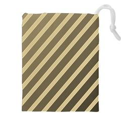 Golden elegant lines Drawstring Pouches (XXL)