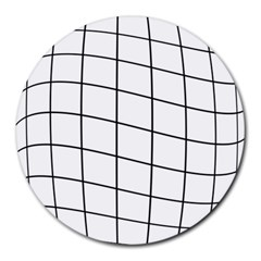Simple lines Round Mousepads