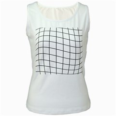 Simple lines Women s White Tank Top