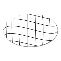 Simple lines Oval Magnet