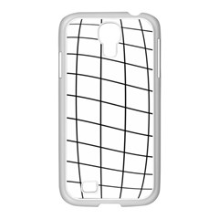 Simple lines Samsung GALAXY S4 I9500/ I9505 Case (White)