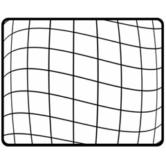 Simple lines Double Sided Fleece Blanket (Medium)