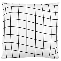 Simple Lines Large Flano Cushion Case (one Side)
