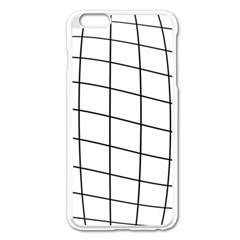 Simple lines Apple iPhone 6 Plus/6S Plus Enamel White Case