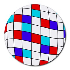 Colorful cubes  Round Mousepads