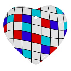 Colorful cubes  Ornament (Heart)