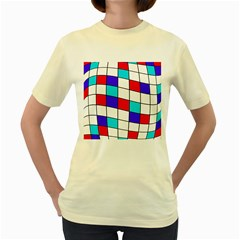 Colorful cubes  Women s Yellow T-Shirt