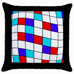 Colorful cubes  Throw Pillow Case (Black)