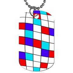 Colorful cubes  Dog Tag (Two Sides)