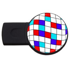 Colorful cubes  USB Flash Drive Round (1 GB)