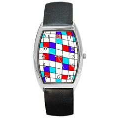 Colorful cubes  Barrel Style Metal Watch